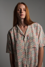 1950's Japanese Chirimen Silk Shirt