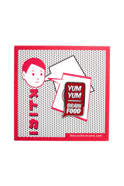 Yum Yum Brain Food Pin