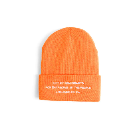 SPREAD LOVE BEANIE - ORANGE