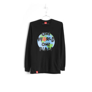 ONE WORLD ONE PEACE L/S - BLACK