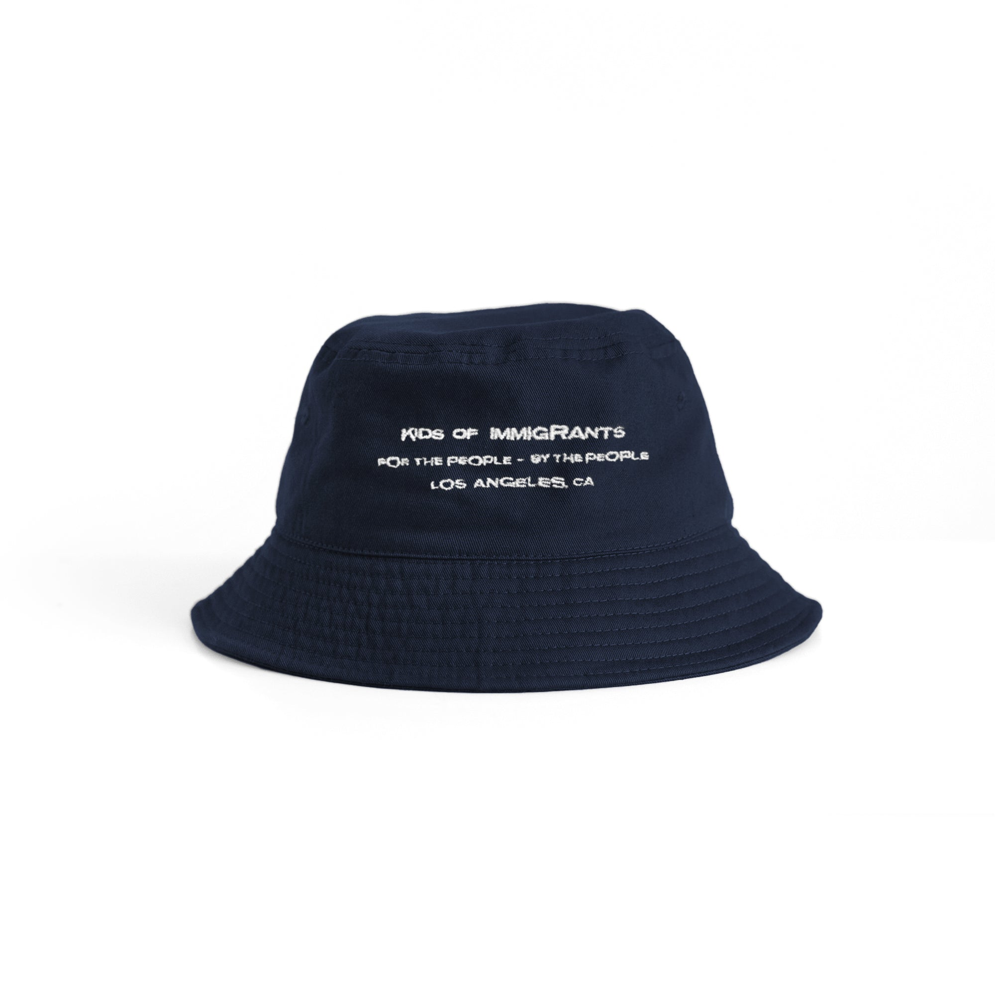 KIDS OF IMMIGRANTS BUCKET HAT 3.0 - NAVY BLUE