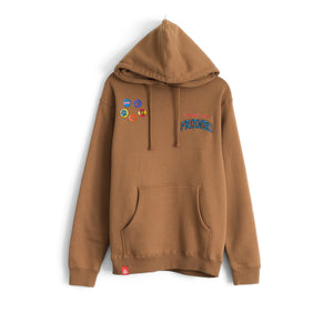 SUPPORT YOUR FRIENDS ESSENTIAL HOODIE - NUTMEG