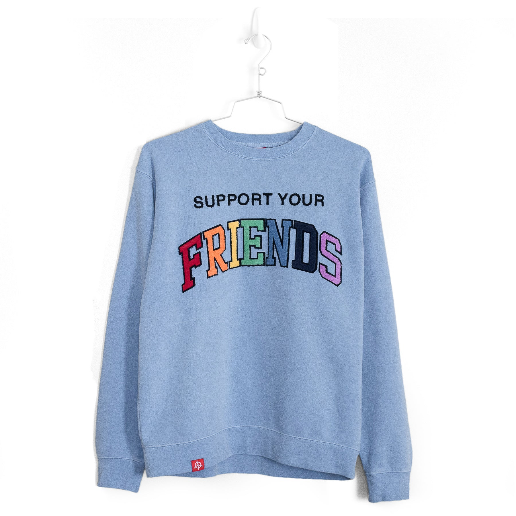 SUPPORT YOUR FRIENDS SWEATER - SUN-DRIED BLUE MULTI