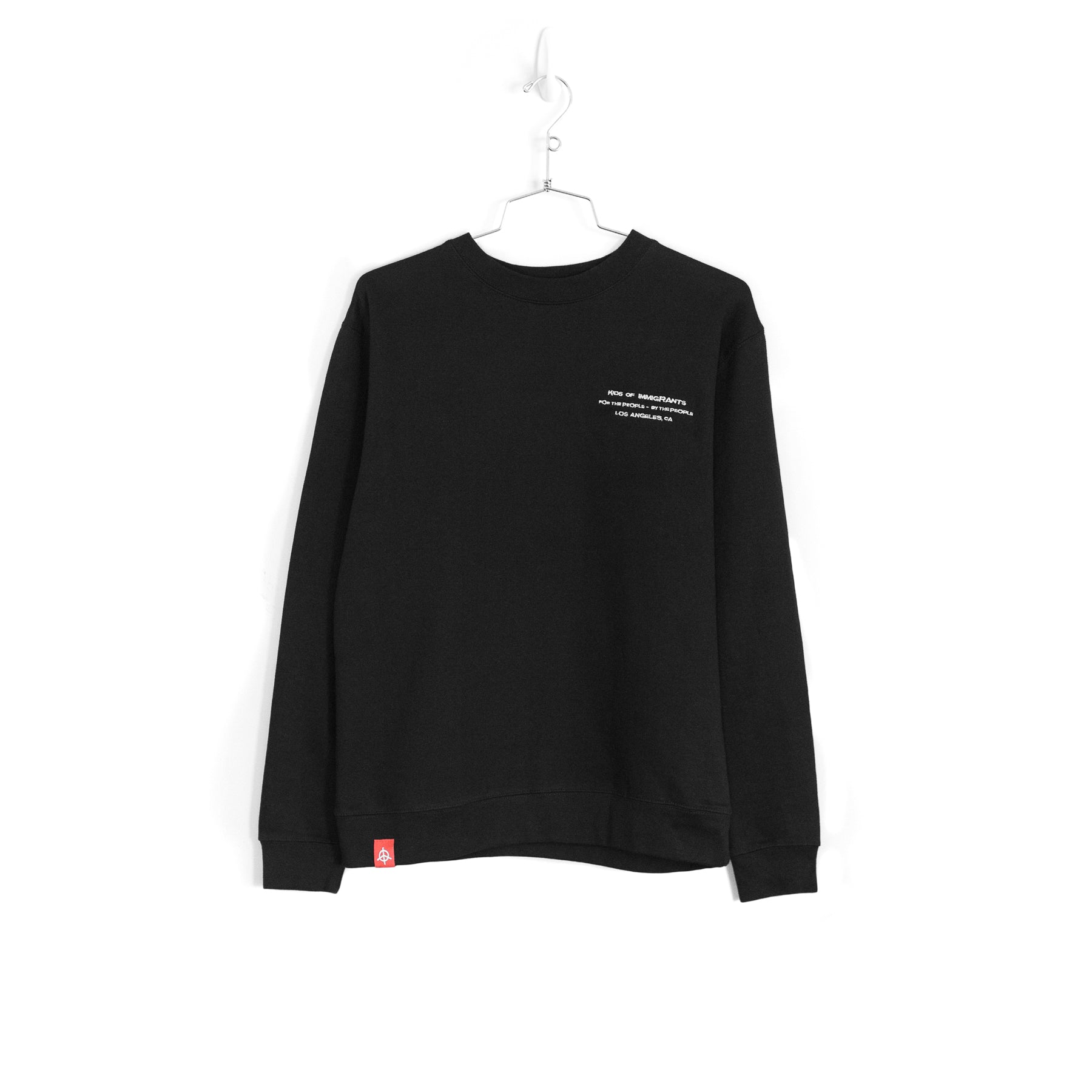 EYE OF THE TIGER BLAST SWEATER - BLACK (SILVER EMBROIDERY)