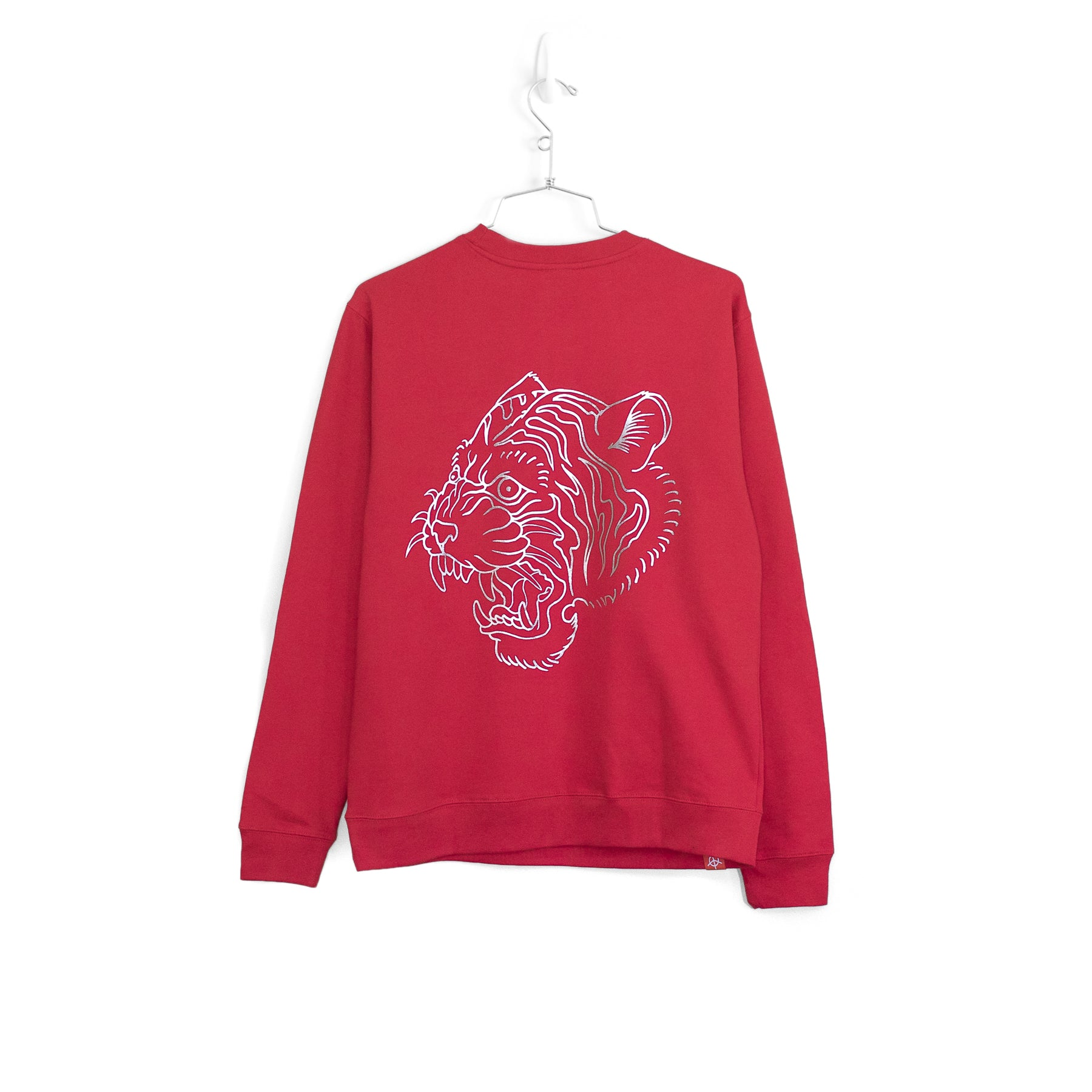 EYE OF THE TIGER BLAST SWEATER - RED (SILVER EMBROIDERY)
