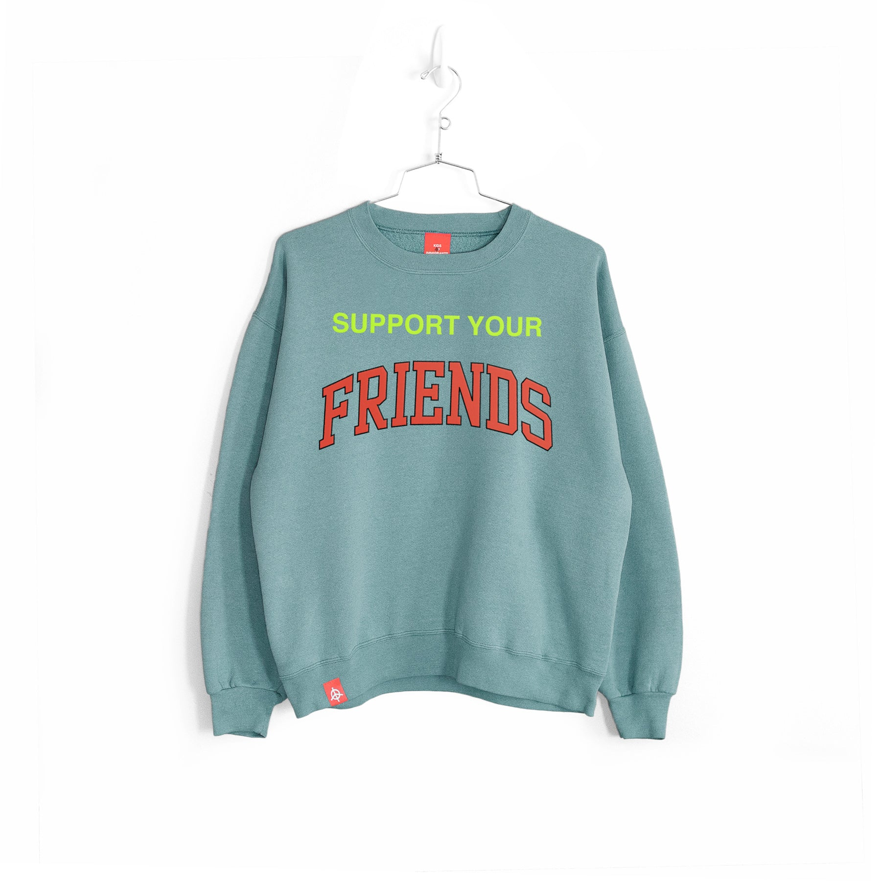SUPPORT YOUR FRIENDS SWEATER - SUN-DRIED GREEN