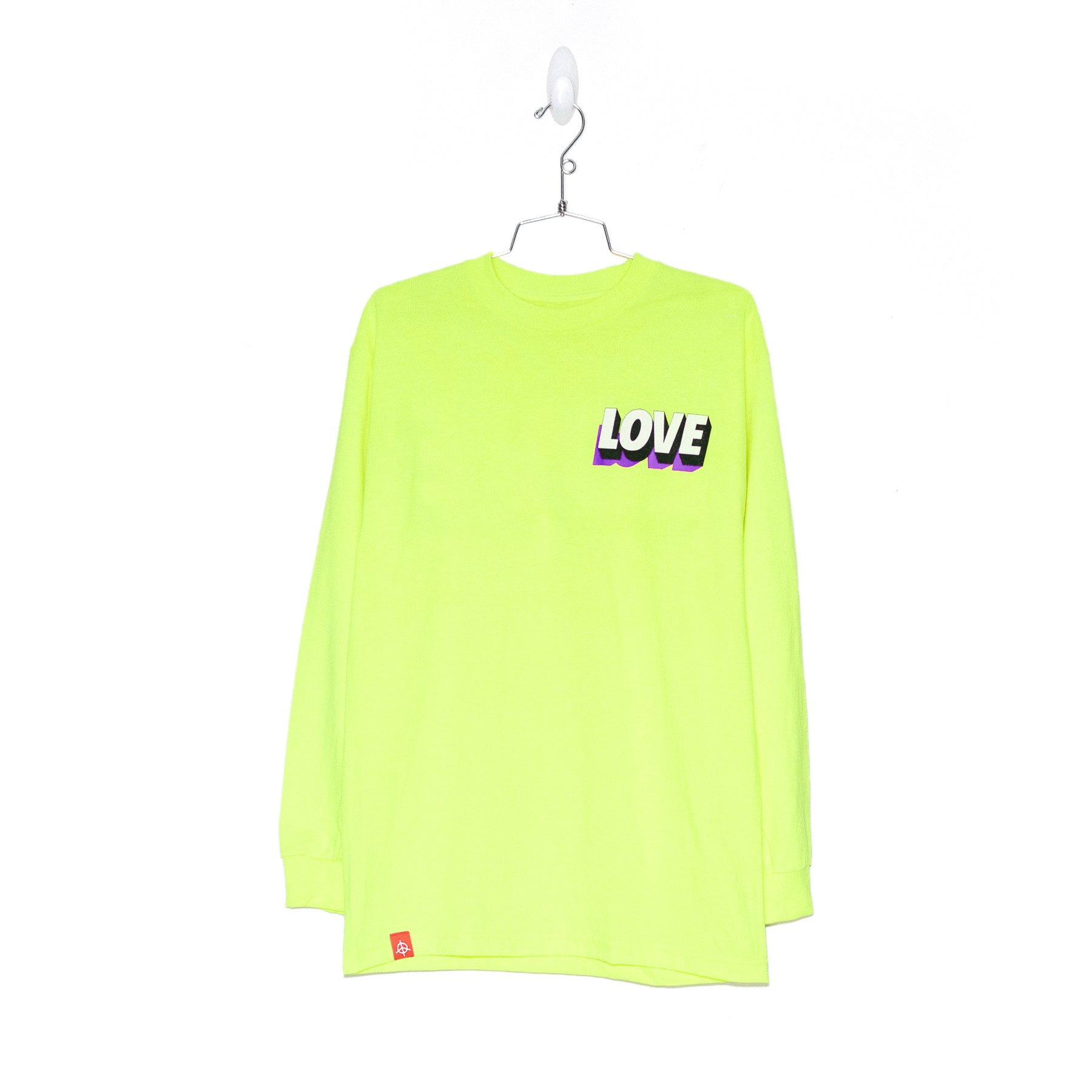 SPREAD LOVE L/S - NEON YELLOW