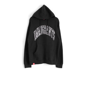 IMMIGRANTS HOODIE - BLACK/WHITE