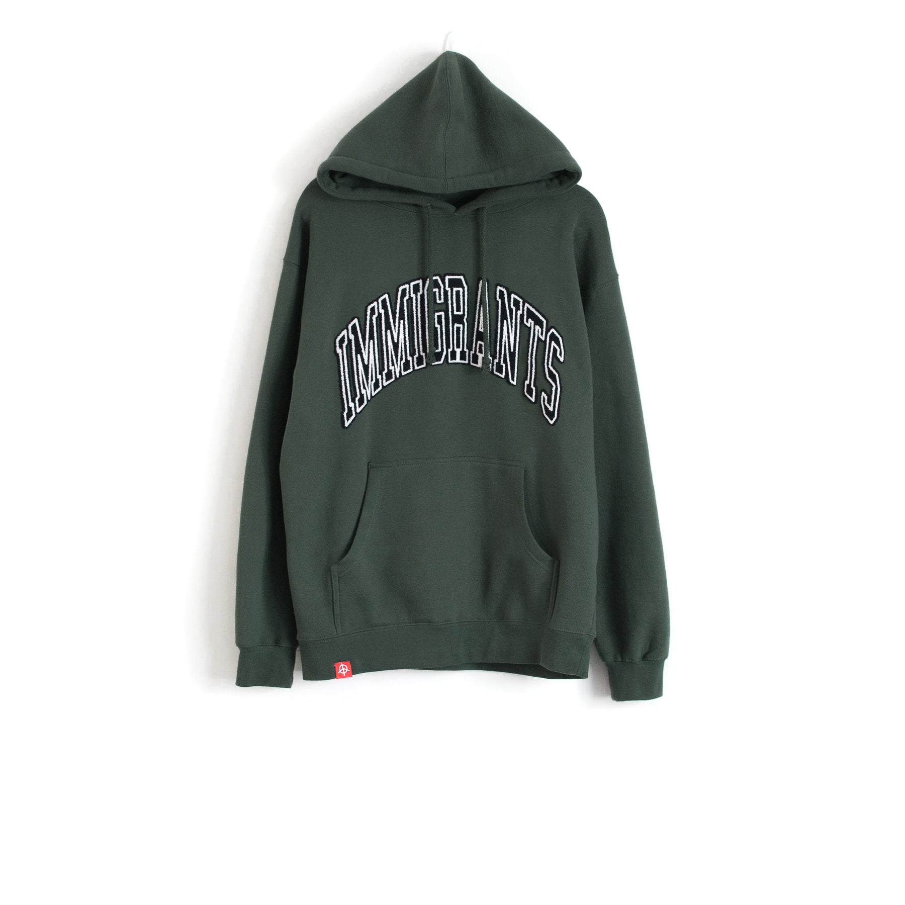 IMMIGRANTS HOODIE - DARK GREEN