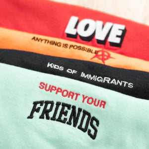SUPPORT YOUR FRIENDS YOUTH ESSENTIAL T-SHIRT - MINT