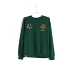 KIDS OF IMMIGRANTS TIGER ESSENTIAL SWEATER - FOREST GREEN