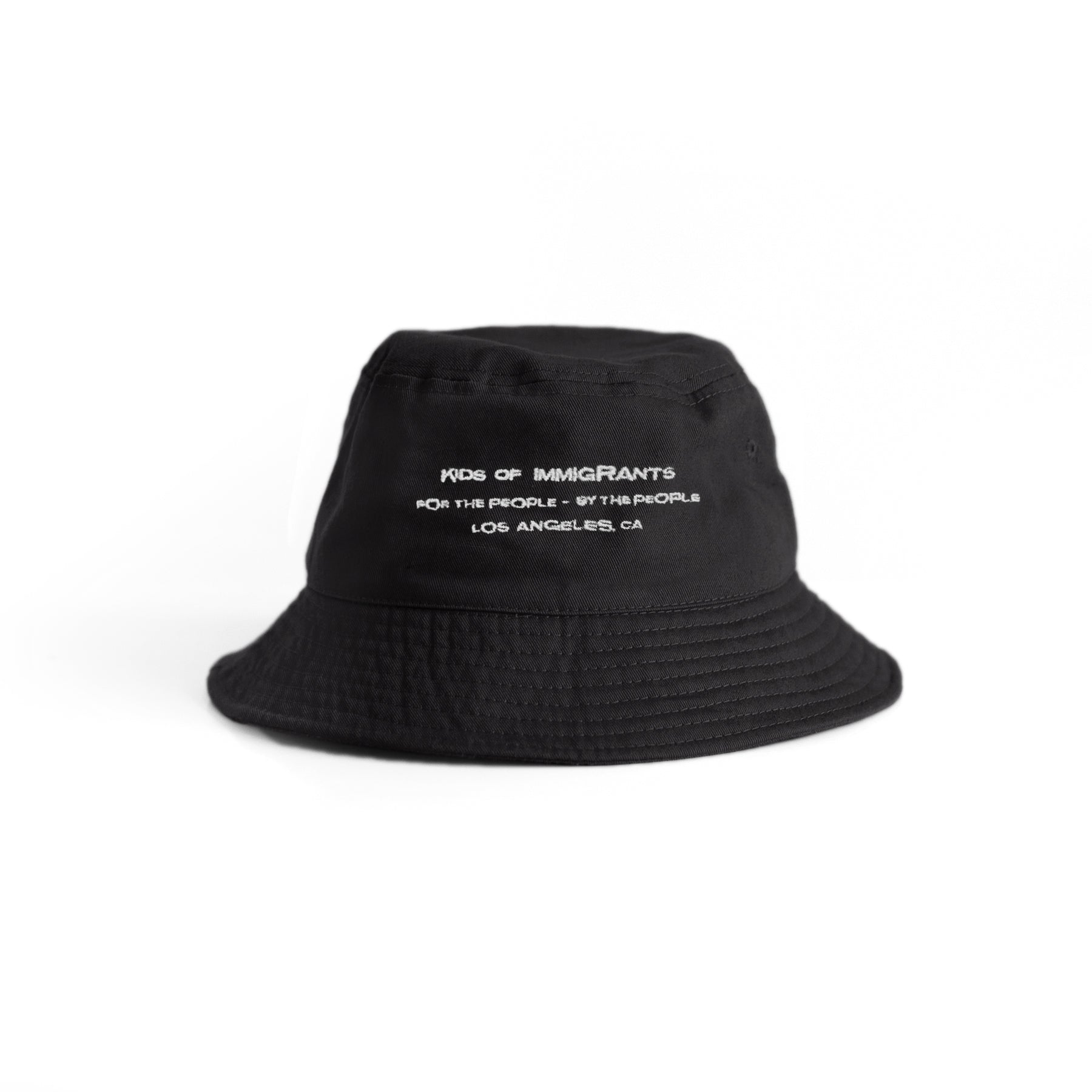 EYE OF THE TIGER BUCKET HAT - BLACK (SILVER EMBROIDERY)