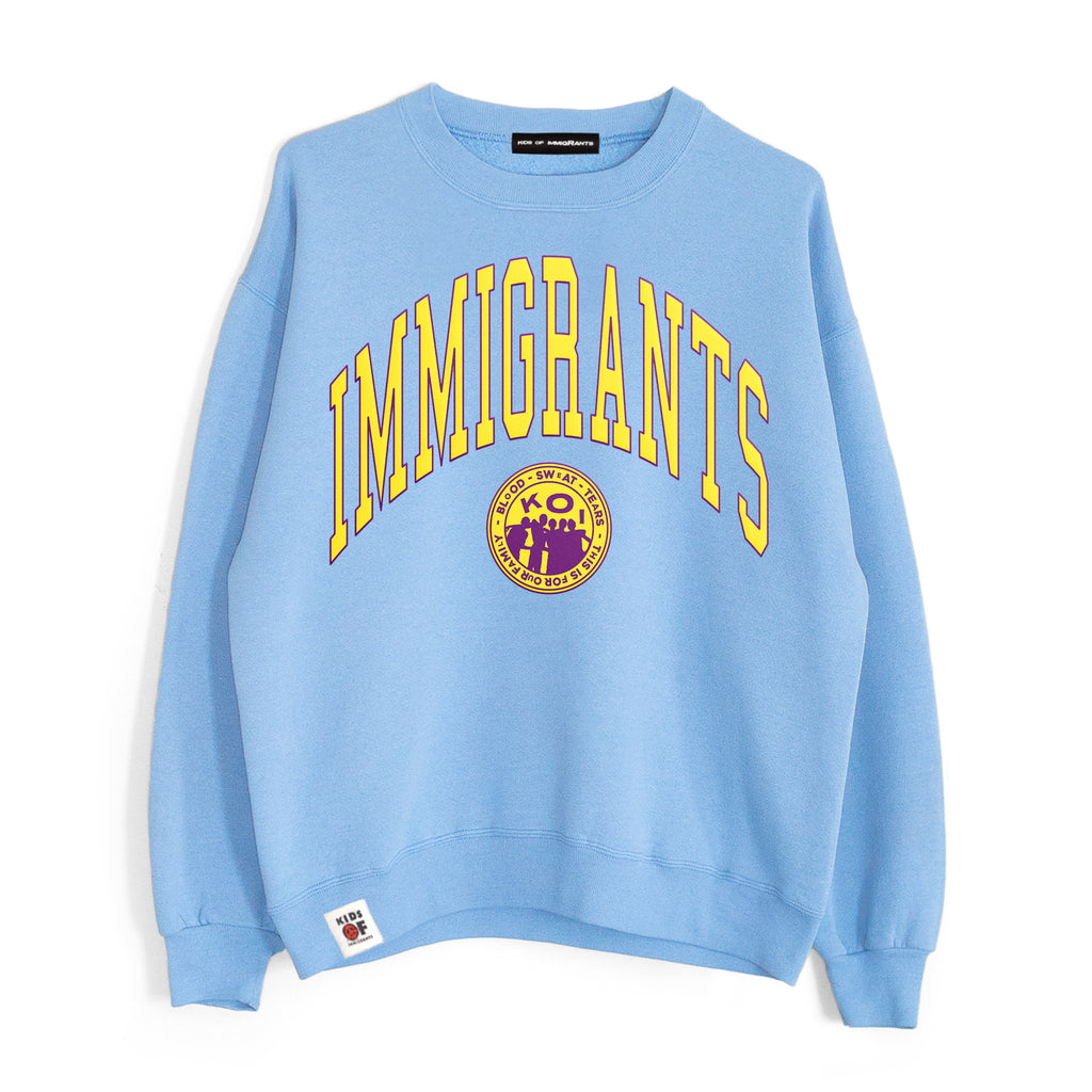 IMMIGRANTS 2.0 SWEATER - SUN-DRIED BLUE