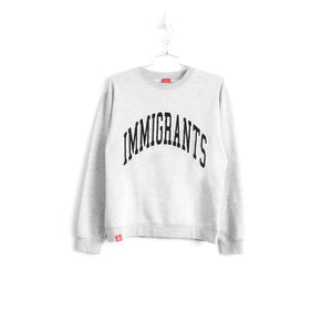 IMMIGRANTS SWEATER - HEATHER GREY