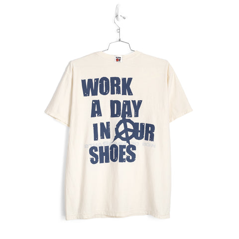 WORK A DAY IN OUR SHOES REVERSIBLE T-SHIRT - NATURAL