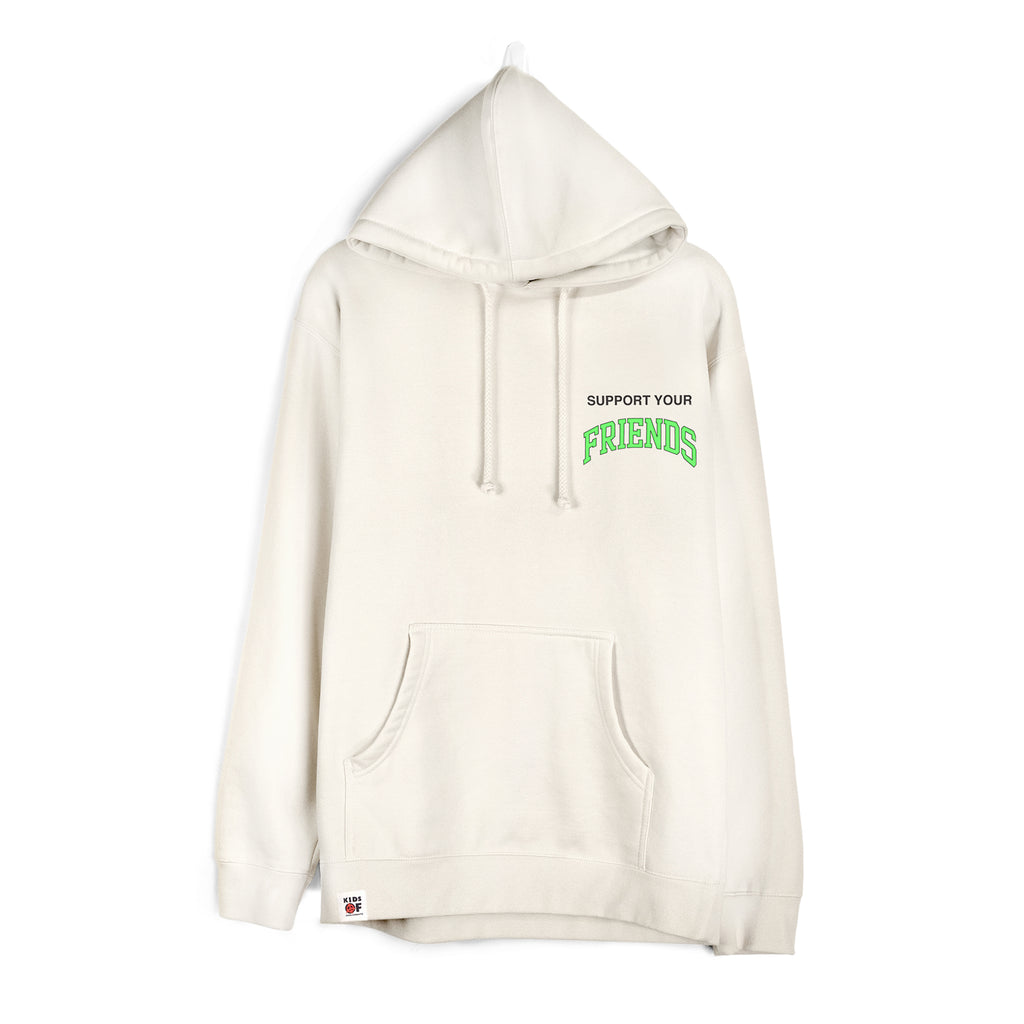 SUPPORT YOUR FRIENDS ESSENTIAL HOODIE - NATURAL