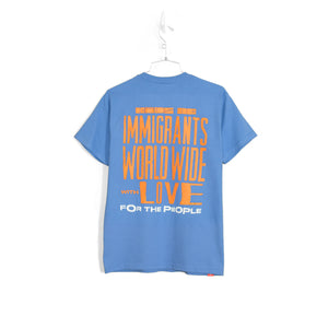 WORLDWIDE LOVE T-SHIRT - BLUE SKIES