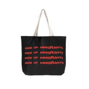 SUPPORT YOUR FRIENDS TOTE BAG - BLACK