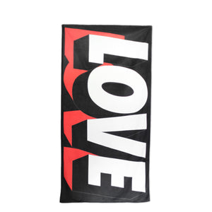 SPREAD LOVE YOGA TOWEL - BLACK