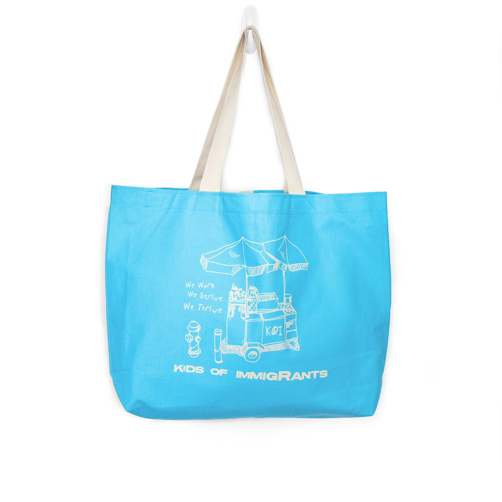 WE THRIVE TOTE BAG - AQUA BLUE