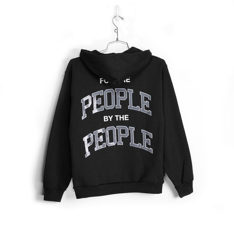 FOR THE PEOPLE HOODIE - BLACK