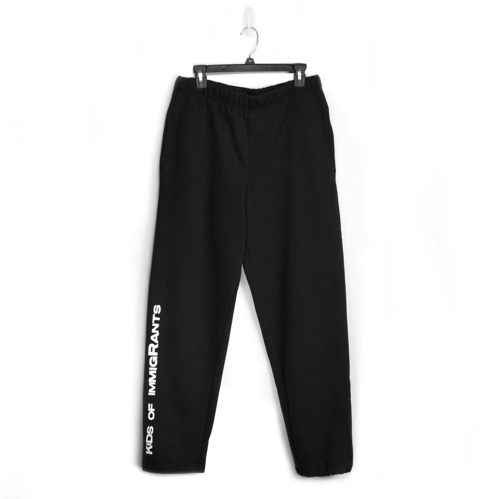 KIDS OF IMMIGRANTS SWEATPANTS - BLACK