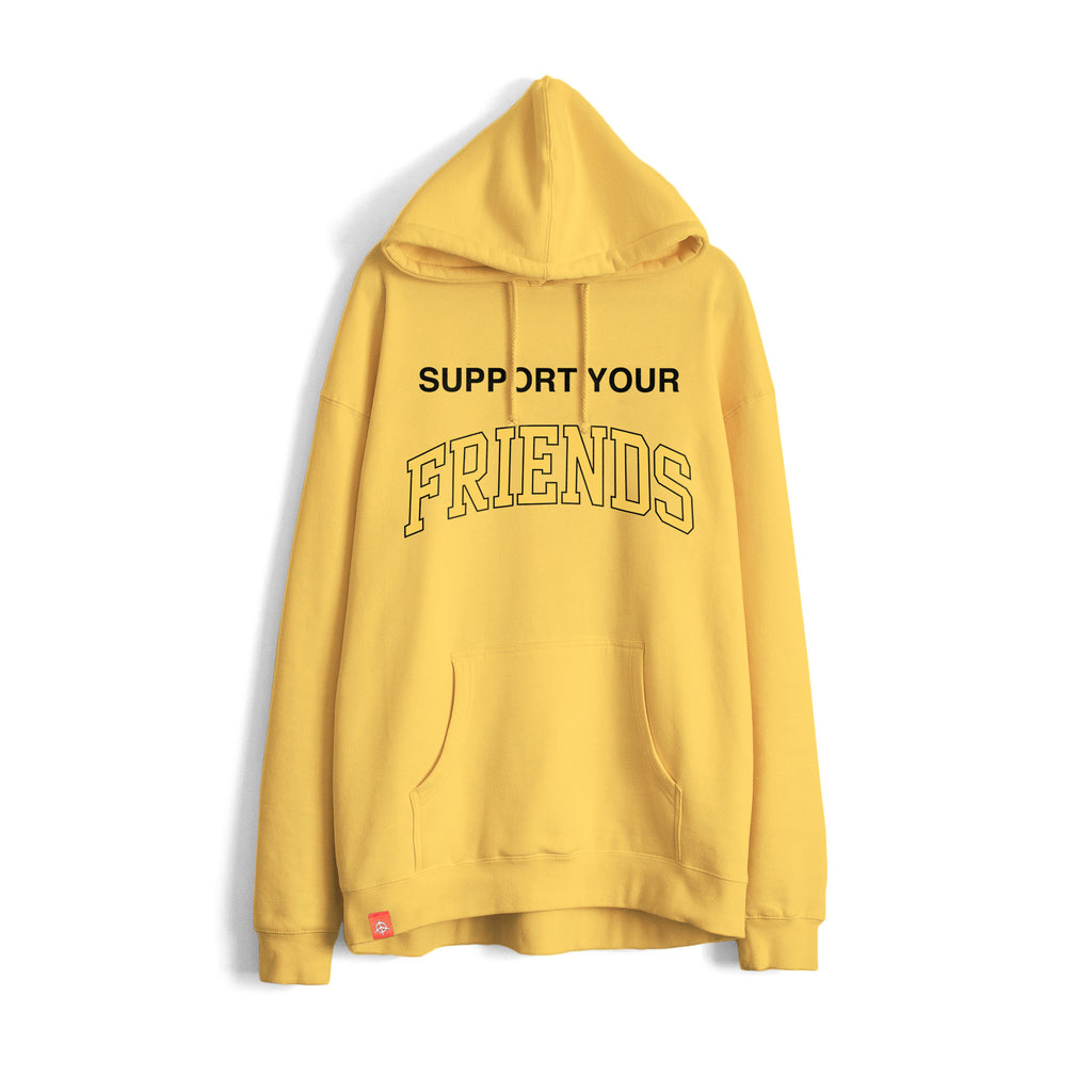 SUPPORT YOUR FRIENDS HOODIE - GOLDEN SUN