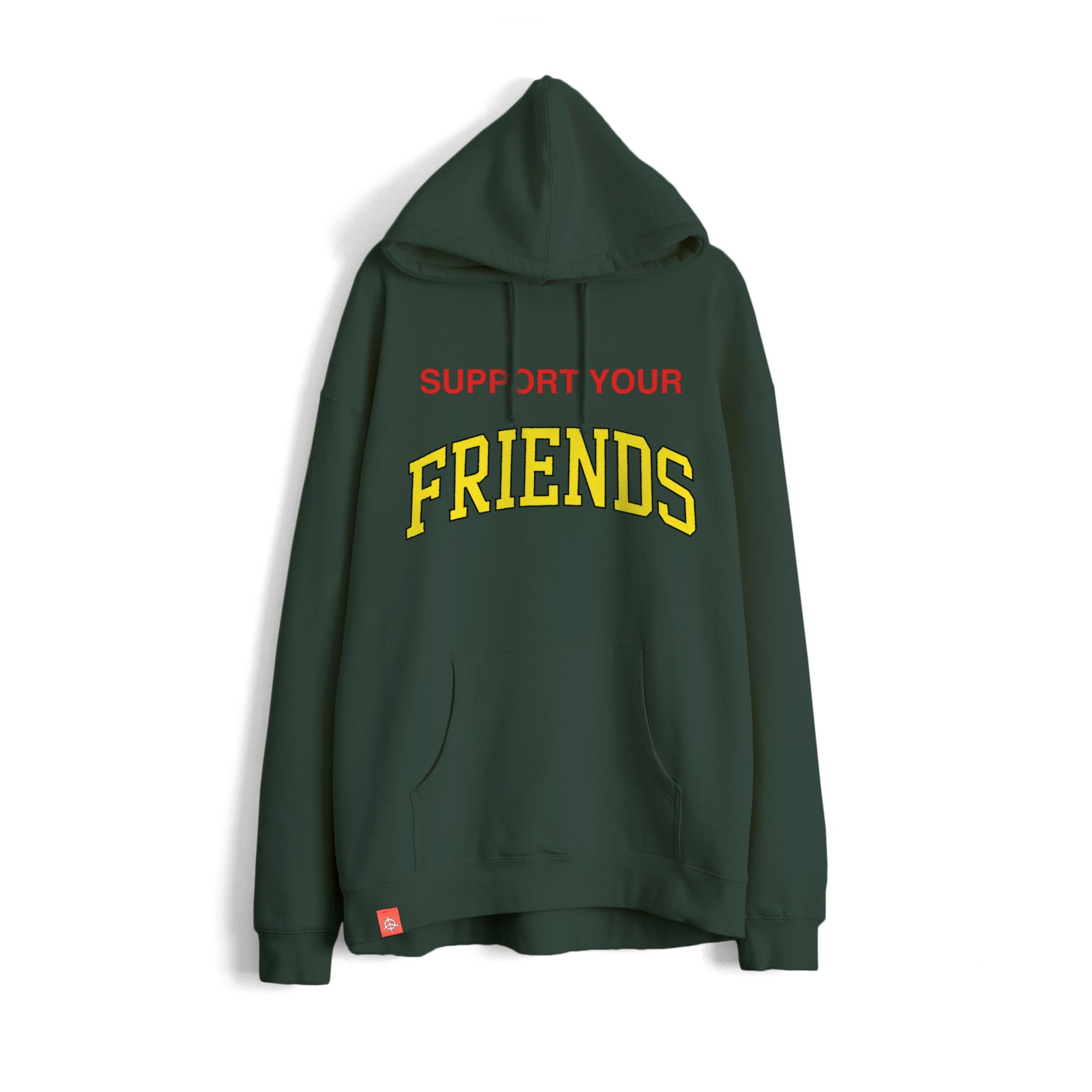 SUPPORT YOUR FRIENDS HOODIE - LEAFY GREEN
