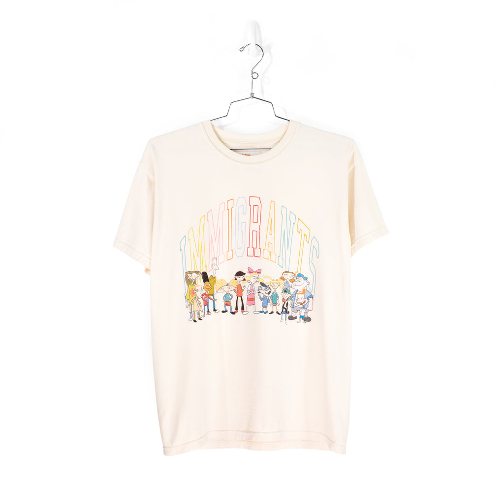 IMMIGRANTS BY KIDS OF IMMIGRANTS T-SHIRT - NATURAL