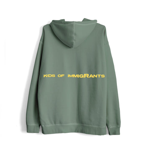 IMMIGRANTS 2.0 HOODIE - SUN-DRIED GREEN