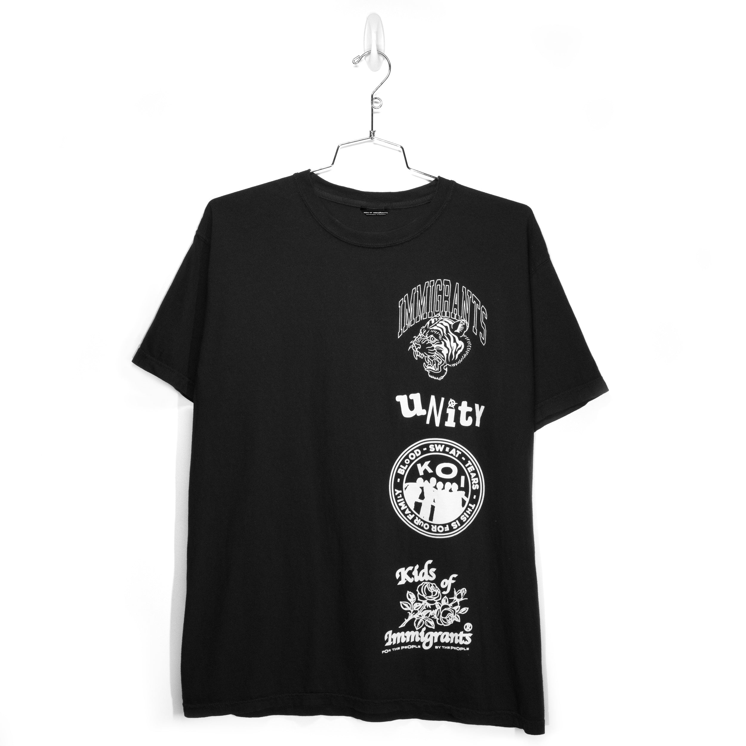 IMMIGRANTS 2.0 S/S T-SHIRT - BLACK