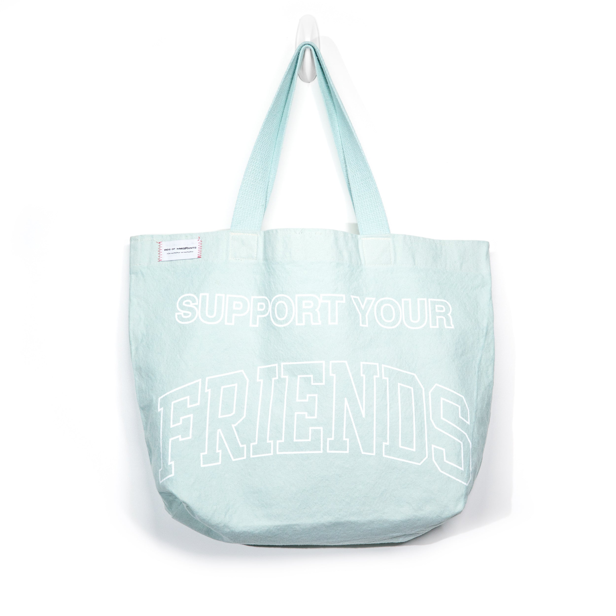 SUPPORT YOUR FRIENDS TOTE BAG - VINTAGE TEAL