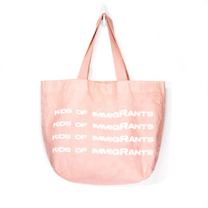 SUPPORT YOUR FRIENDS TOTE BAG - VINTAGE PINK