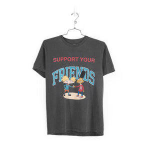 SUPPORT YOUR BEST FRIENDS T-SHIRT - VINTAGE BLACK