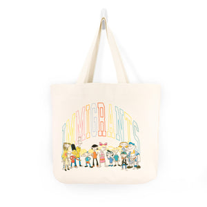 IMMIGRANTS BY KIDS OF IMMIGRANTS TOTE BAG - NATURAL