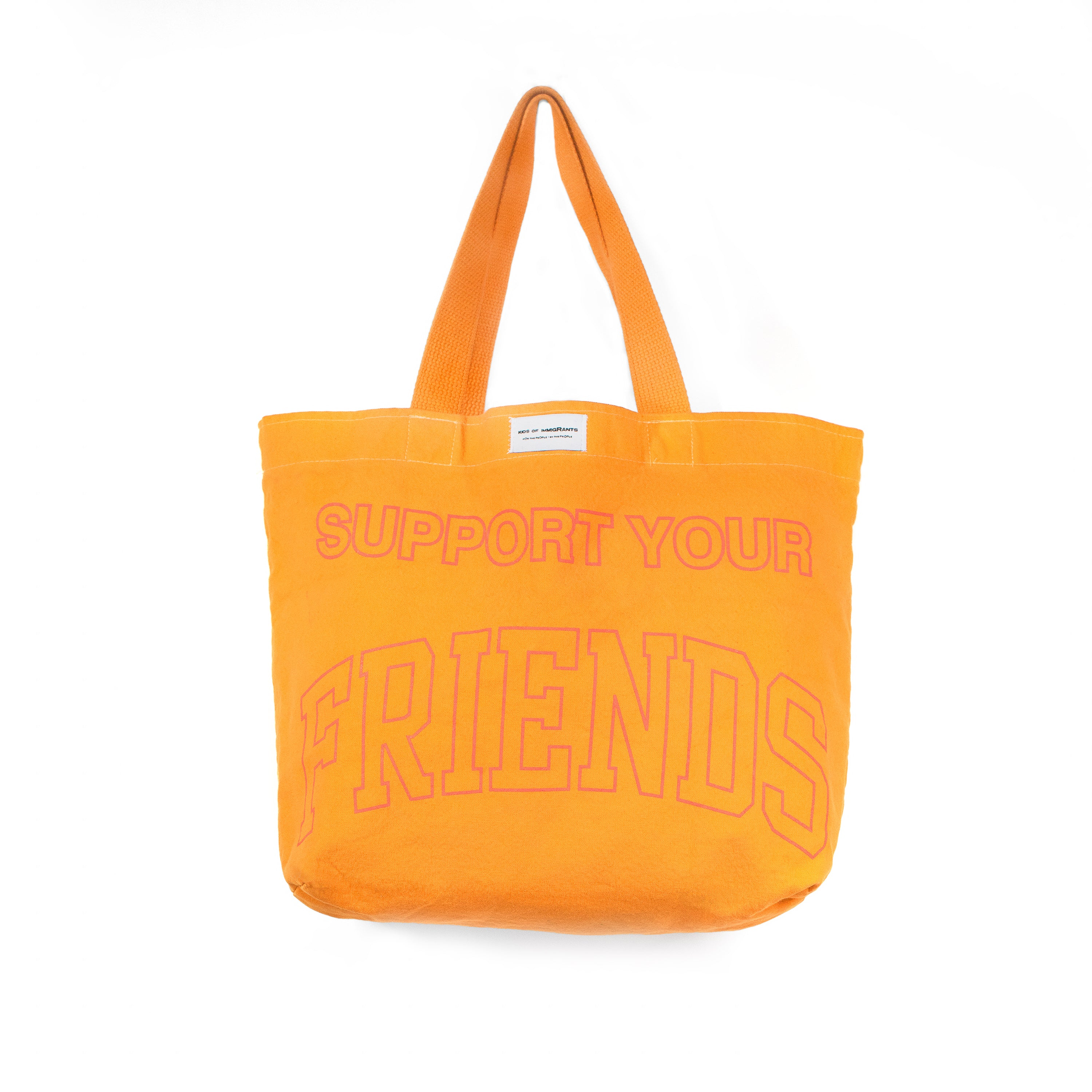 SUPPORT YOUR FRIENDS TOTE BAG - ORANGE