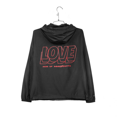 SPREAD LOVE 2.0 ANORAK - BLACK