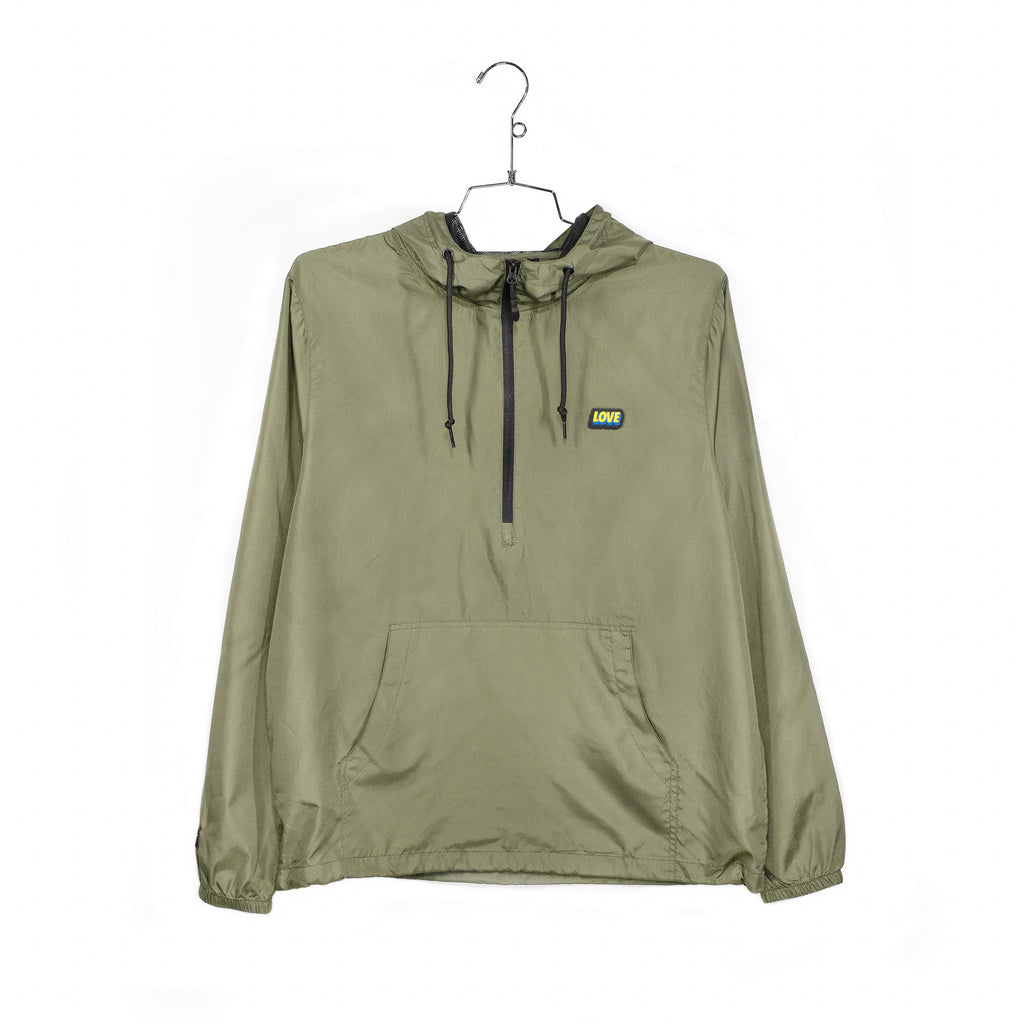 SPREAD LOVE 2.0 ANORAK - OLIVE