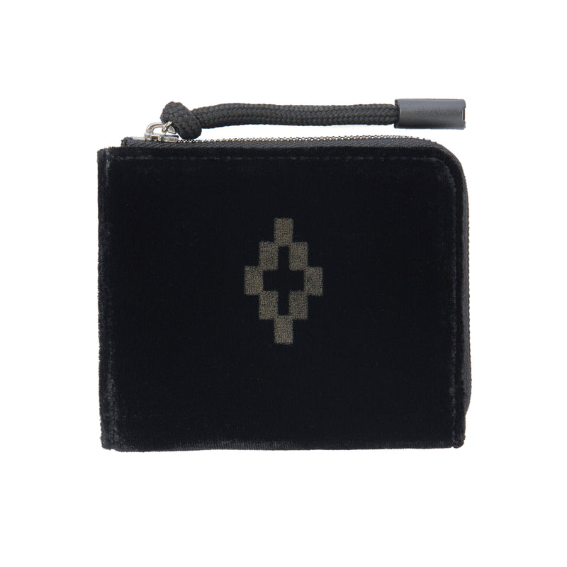 MARCELO BURLON COUNTY OF MILAN Velvet Cross Logo Wallet