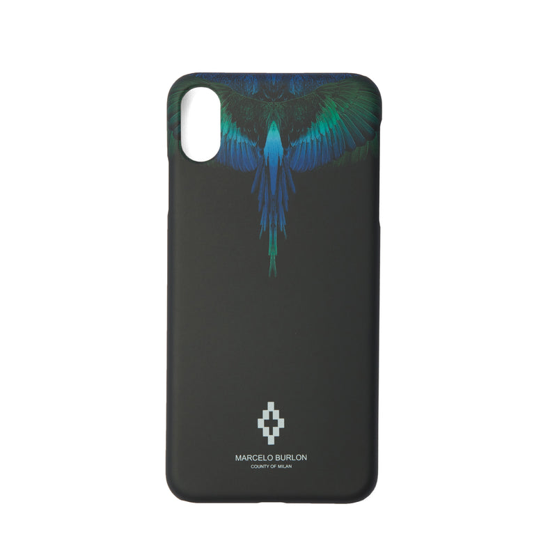 MARCELO BURLON COUNTY OF MILAN Blue Wings iPhone XS Max Case