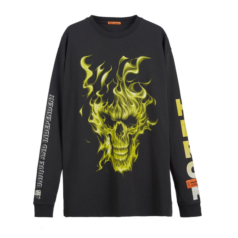 HERON PRESTON Oversize Skull Long-sleeve T-shirt