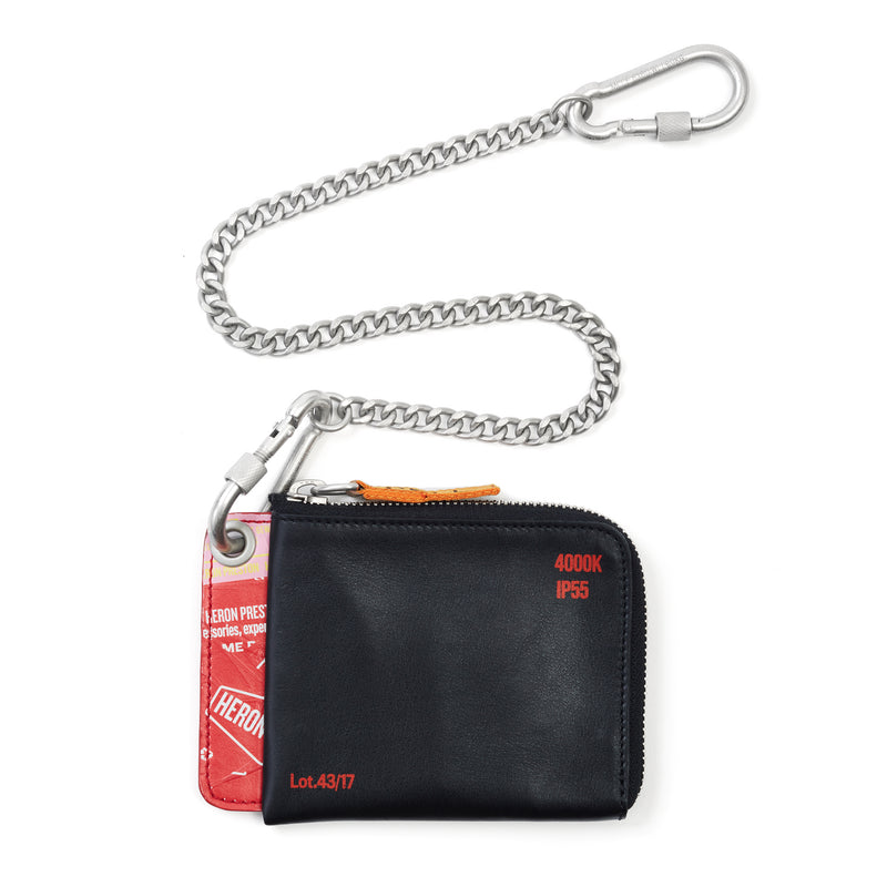 Heron Preston Black Chain Wallet
