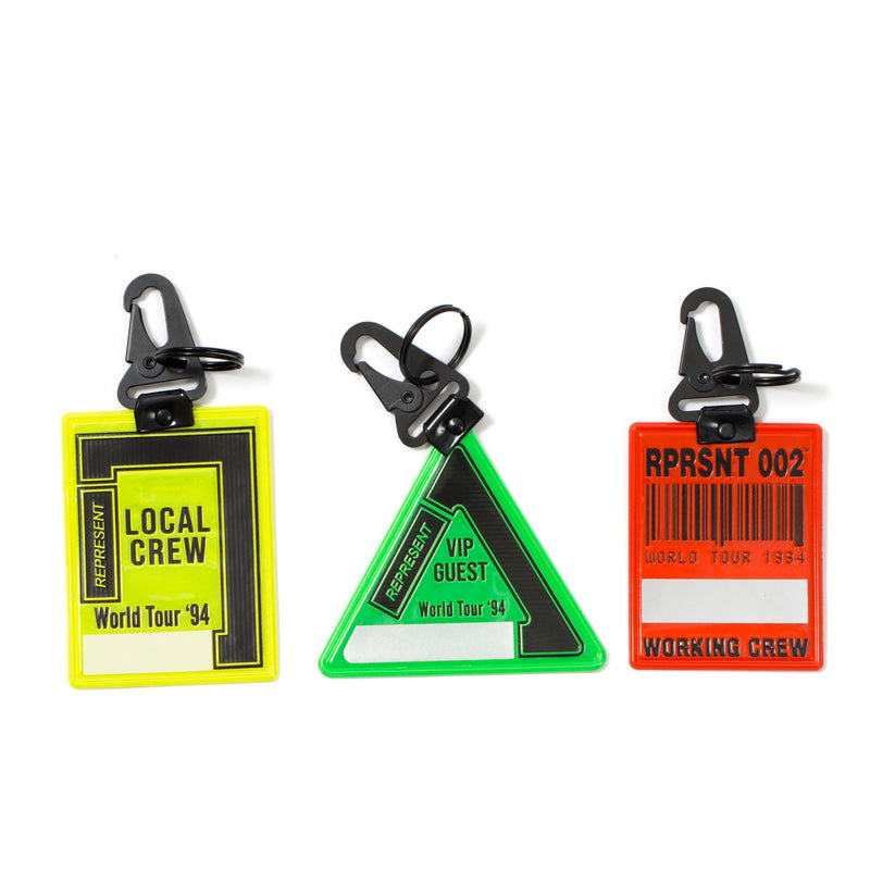 REPRESENT Tour Pass Keyrings Set
