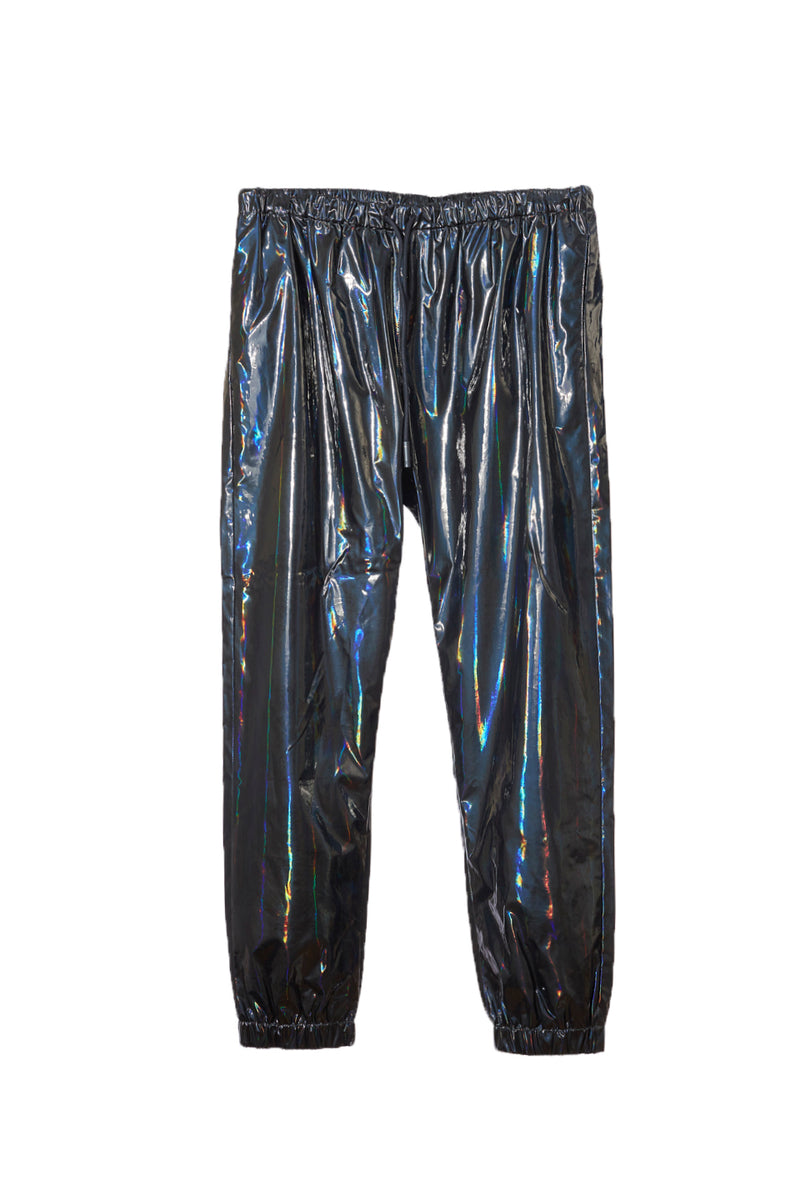 MARCELO BURLON IRIDISCENT NYLON JOGGING PANTS