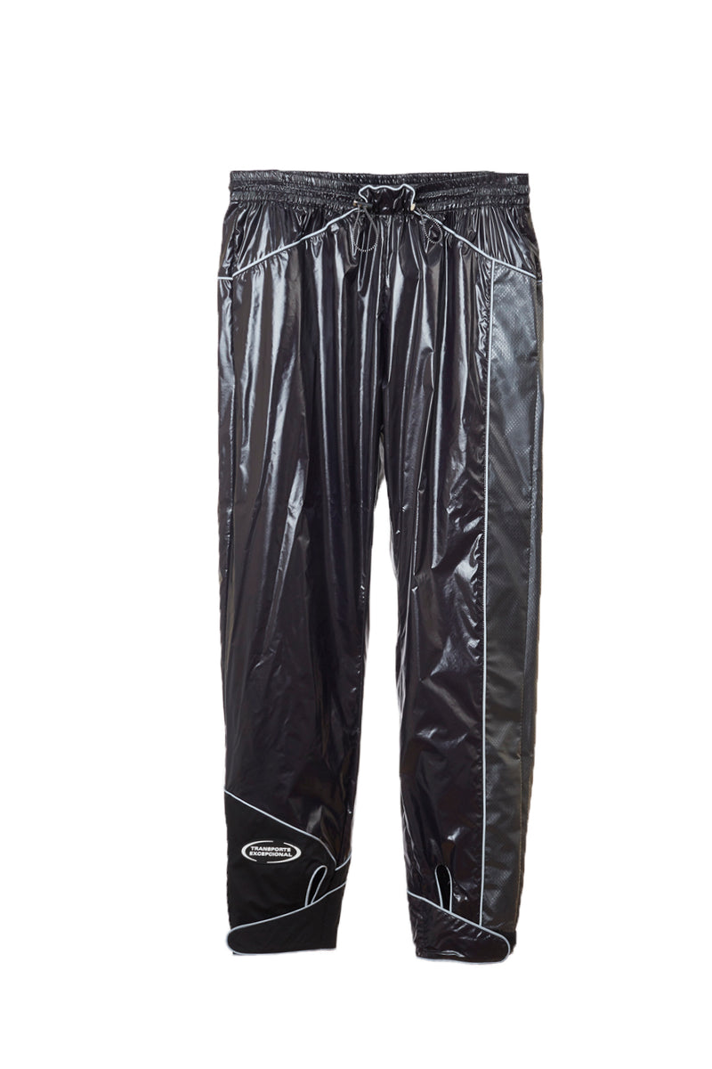 MARCELO BURLON PATCH SHINY NYLON PANTS