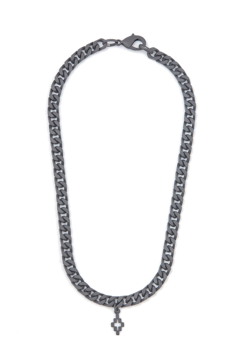 MARCELO BURLON CROSS  ANTHRACITE NO COLOR NECKLACE