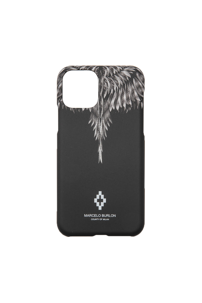 MARCELO BURLON SHARP WINGS XI CASE BLACK BLUE FLUO PHONE CASE