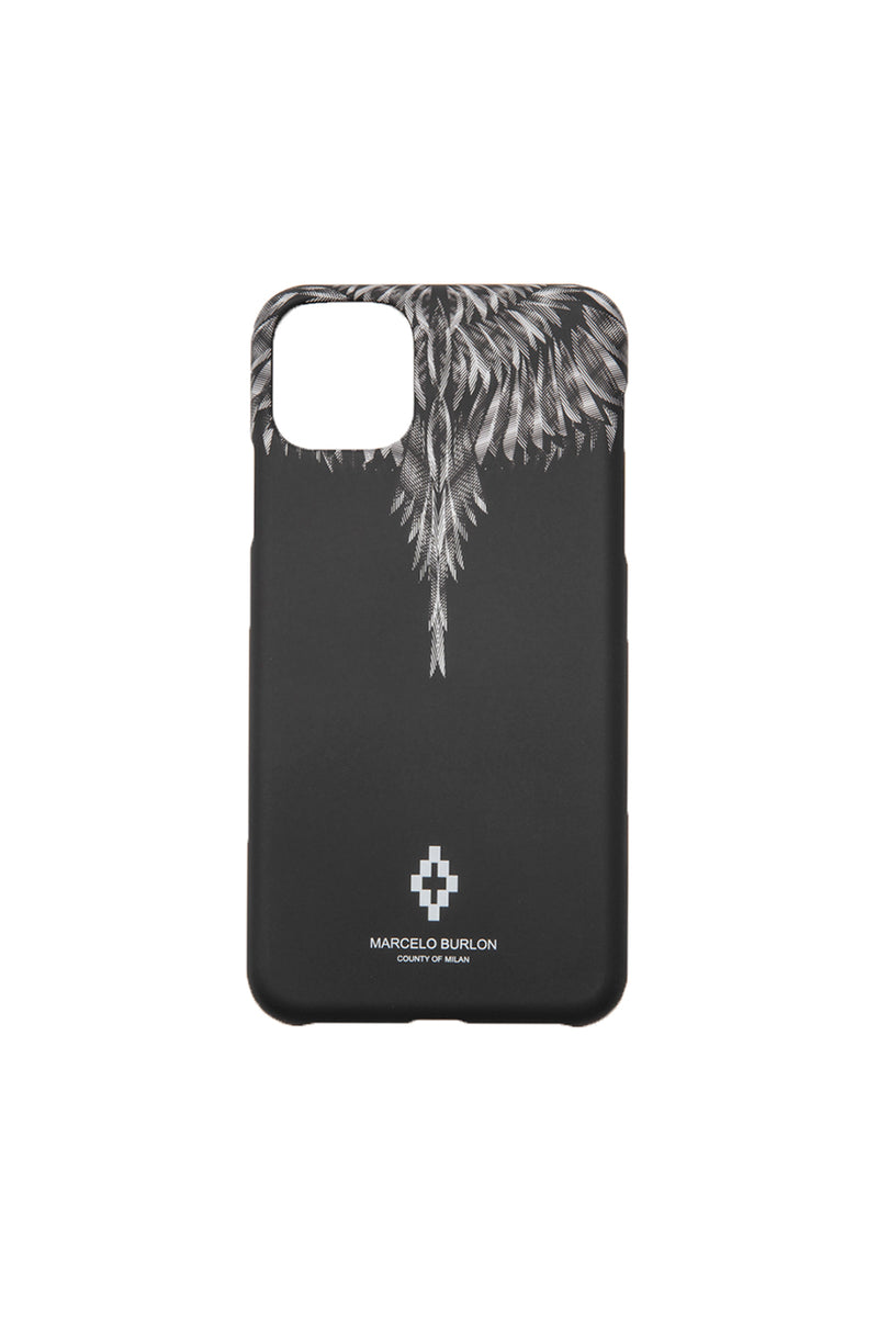 MARCELO BURLON SHARP WINGS XI MAX CASE BLACK BLUE FLUO PHONE CASE