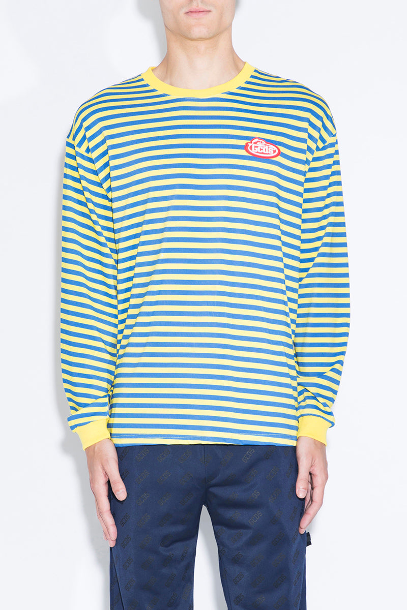GCDS Striped Long-sleeved T-shirt