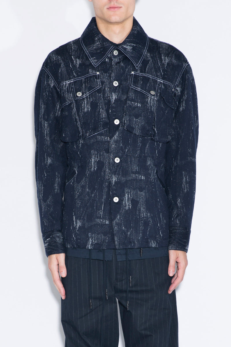 FENG CHEN WANG Jacquard Denim Jacket